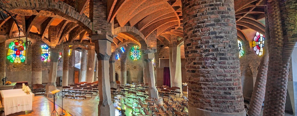 Colonia Güell Combinat: entrance with audio guide + round-trip train ticket from Barcelona