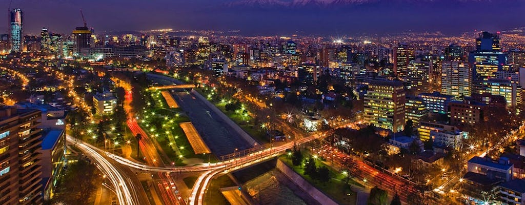 Santiago de Chile sightseeing night tour with dinner