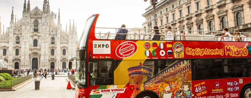 Tour em  ônibus hop-on hop-on de Milão: ingressos de 24, 48, 72 horas
