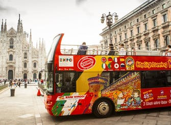 Milan hop-on hop-off bus tour: 24, 48, 72-hour tickets