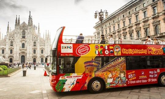 Milan hop-on hop-off bus tour: 24, 48, 72-hour tickets