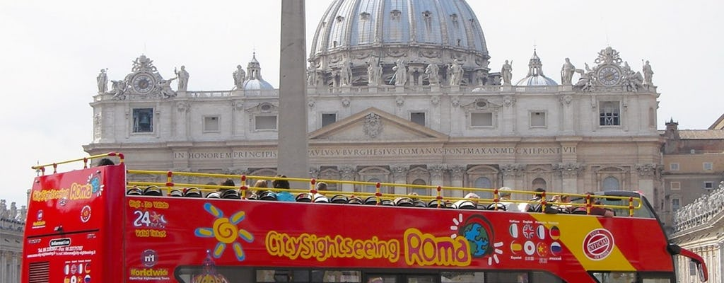 24 or 48-hour hop-on hop-off bus and Vatican Museums tickets