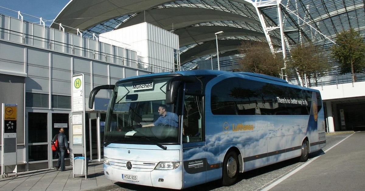 Lufthansa Airport Shuttle Vom Und Zum Stadtzentrum Von München