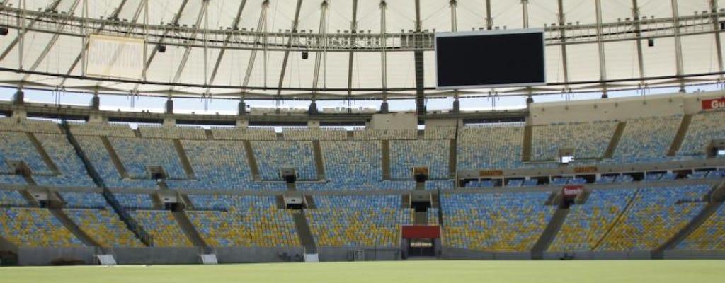 Estádio Maracana atrás da turnê das cenas