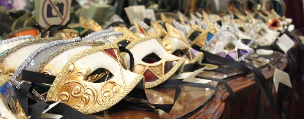 Tour dell'artigianato veneziano tra maschere di carnevale, vetro e velluto