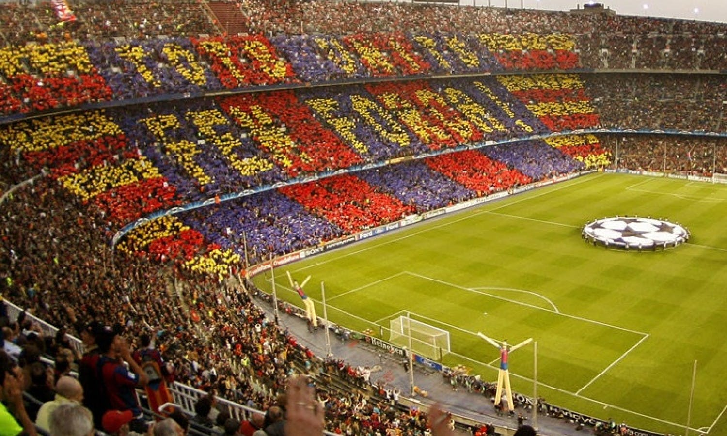 camp nou Take the best family tour of the camp nou with a sports journalist and barça expert put yourself in the shoes of the fc barcelona players, learn while having fun, and leave with a special souvenir.