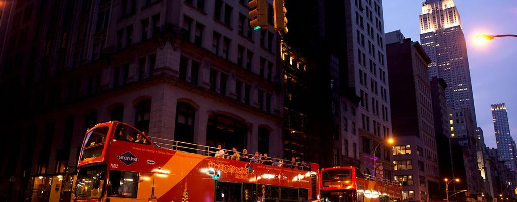 New York City by night bus tour with choice of upgrade