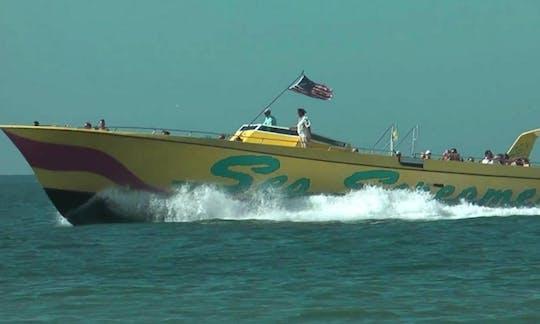 Aventura en lancha rápida Sea Screamer con almuerzo en Clearwater Beach