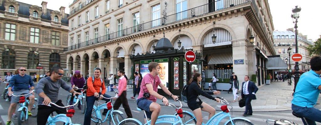 Visite à vélo nocturne de Paris et croisière sur la Seine