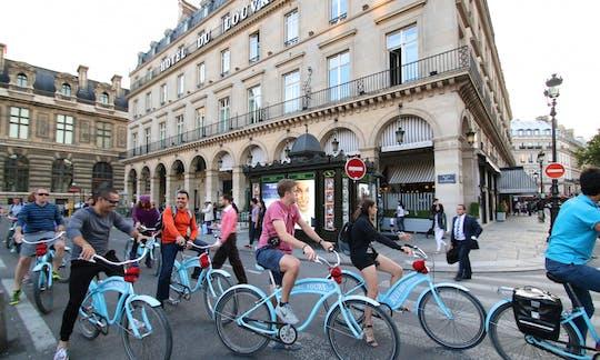 Evening bike tour of Paris and Seine cruise
