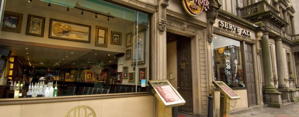 Hard Rock Cafe Edinburgh: priority seating with menu