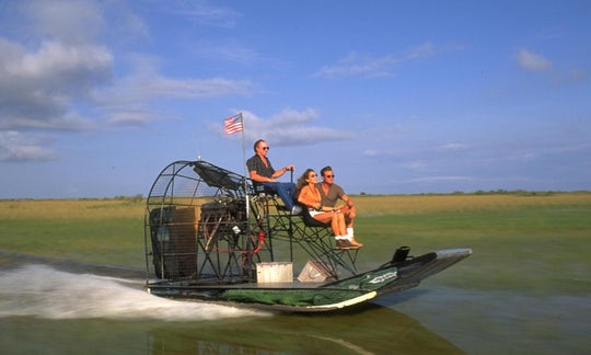Everglades airboat ride with Biscayne Bay boat tour and transportation