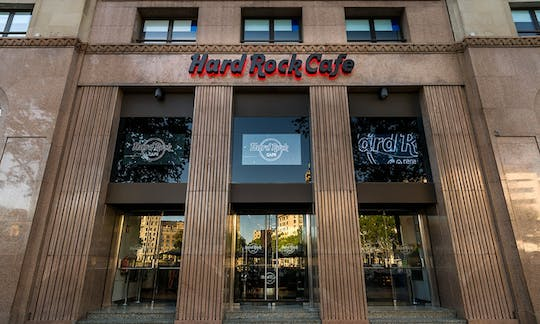 Hard Rock Cafe Barcelona: assentos prioritários com menu
