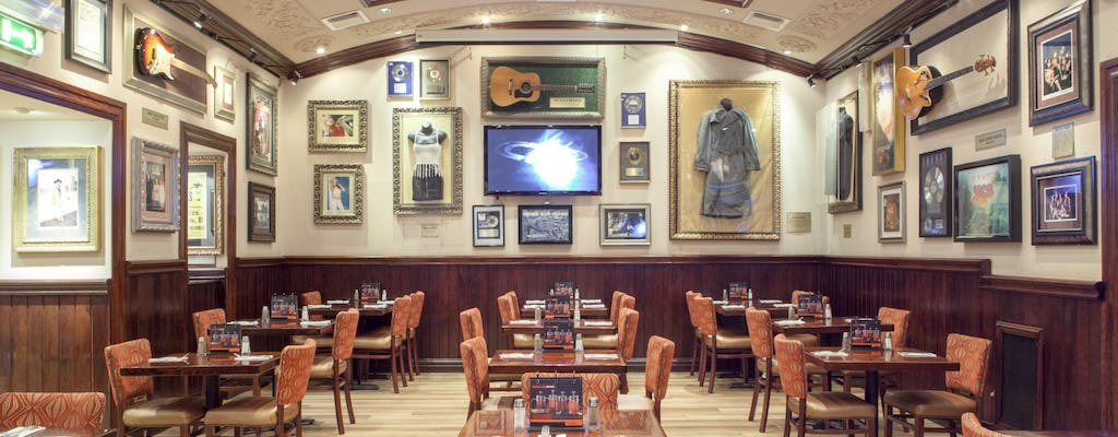 Hard Rock Cafe Rome: priority seating with menu