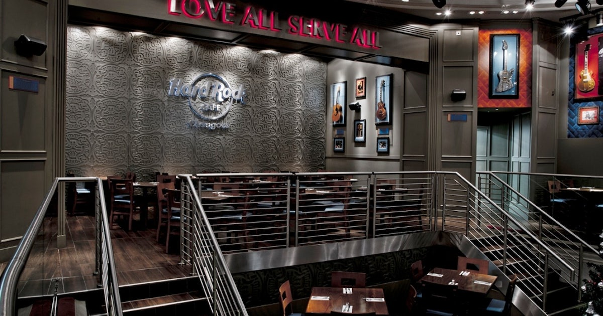 Hard Rock Cafe Glasgow: priority seating with menu