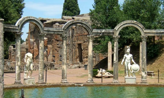 Excursión de un día a Tivoli con almuerzo en Villa de Adriano y Villa d'Este