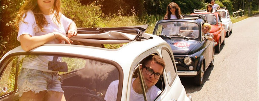 Fiat 500 vintage tour and Chianti roads from San Gimignano