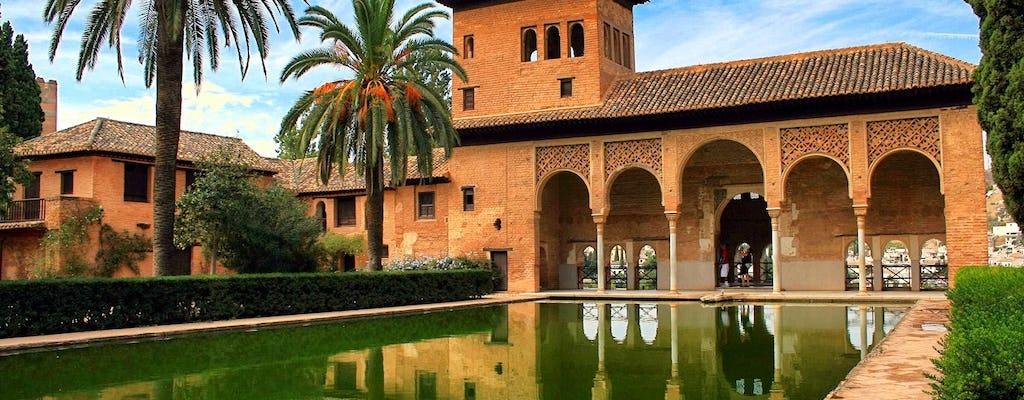 Tour a piedi di Granada con visita all'Alhambra e dei giardini Generalife da Malaga