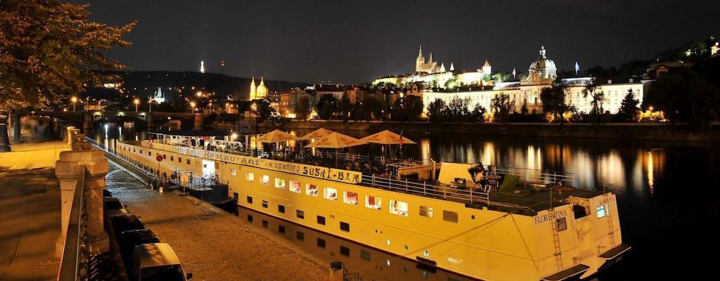 Jantar em cruzeiro em Praga com transporte de hotel