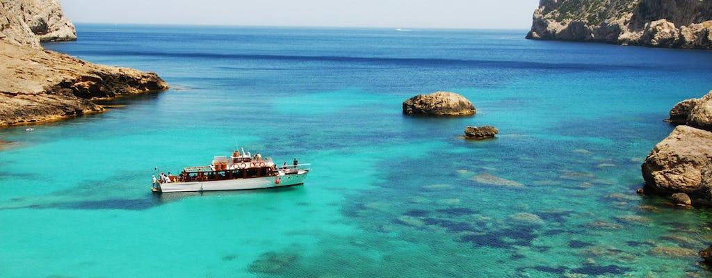 Excursión en barco Robinson todo el día en el norte de Mallorca y almuerzo