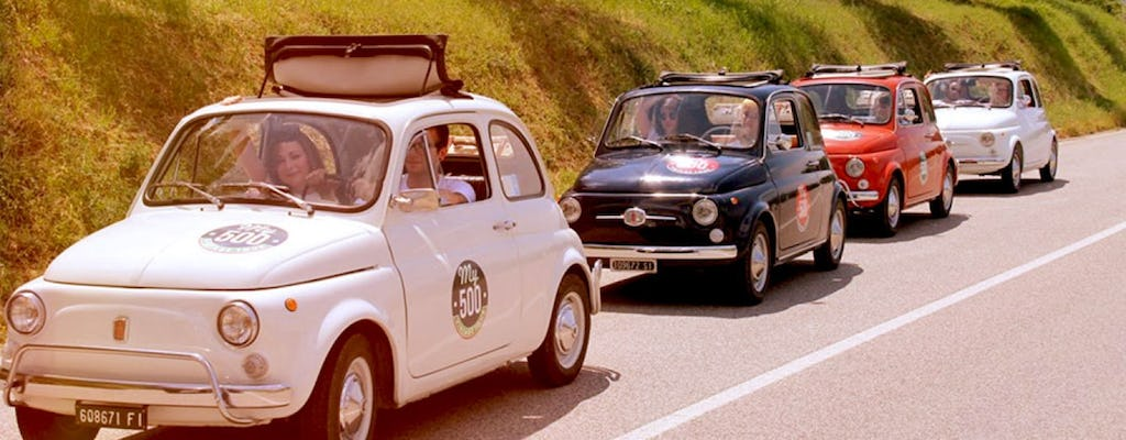 Fiat 500 vintage tour and Chianti roads from Siena with wine tasting and lunch