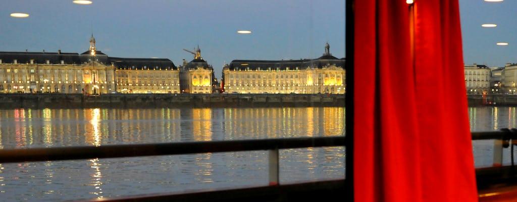 Gourmet dinner cruise on the Garonne