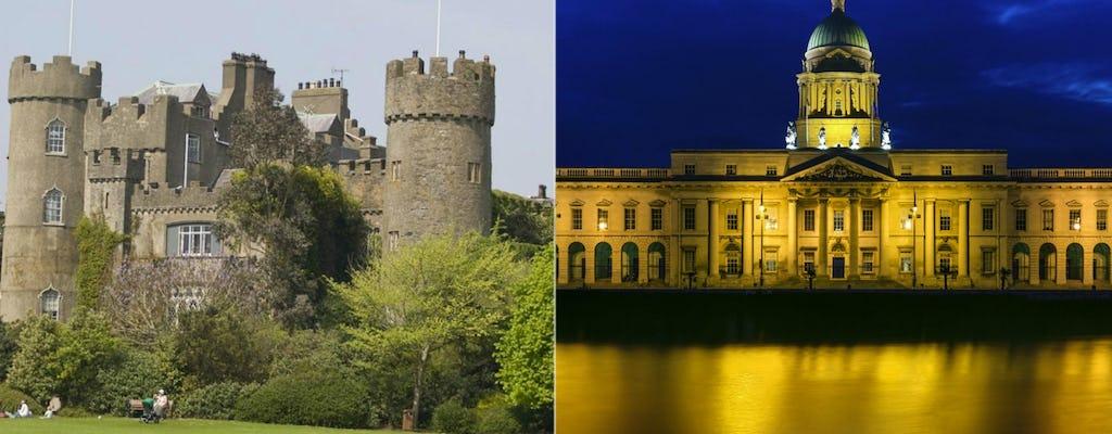 Escursione al castello di Malahide e tour combinato di autobus notturni a Dublino
