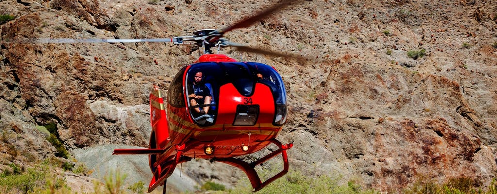 Grand Canyon helicopter tour with gold mine and ATV tour + lunch