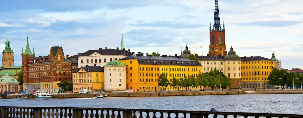 Стокгольм в миниатюре автобусе и лодке
