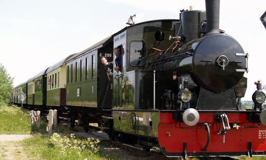 North Holland tour by steam train and ship in the countryside