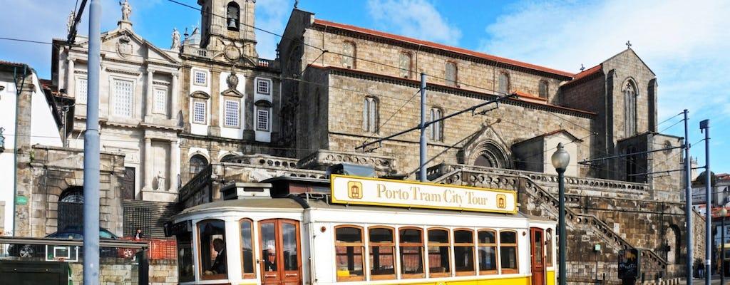 Porto premium 3 w 1: panoramiczny autobus, tramwaj i kolejka linowa