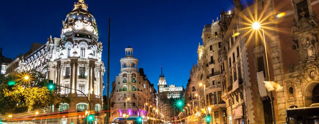 Madrid guided tour at night with flamenco show and optional dinner