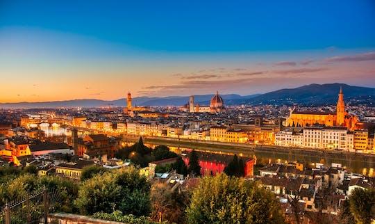 Tour serale in bicicletta elettrica a Firenze con vista mozzafiato da Piazzale Michelangelo