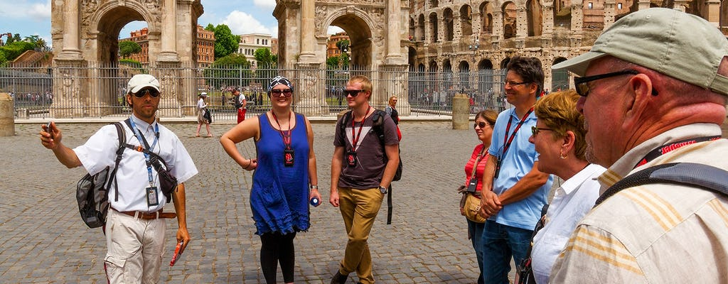 Guided tour of Colosseum Gladiator's Gate and Arena Floor, Roman Forum and Palatine Hill