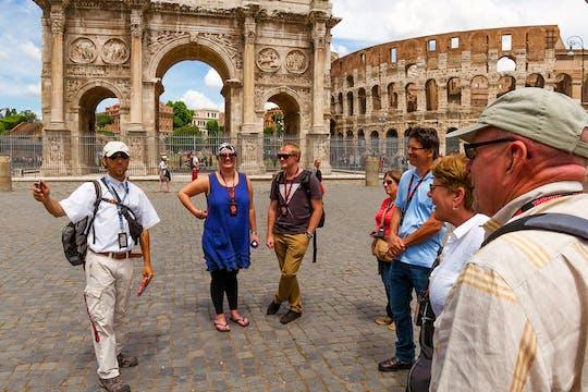 Visita guiada do Portão dos Gladiadores  do Coliseu e Arena, Fórum Romano e Monte Palatino