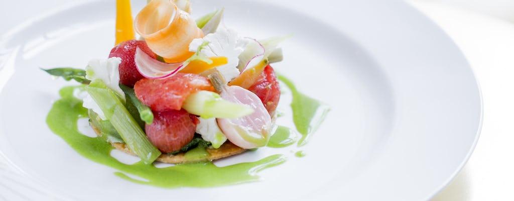 Almuerzo en el restaurante Ore–Ducasse del Palacio de Versalles
