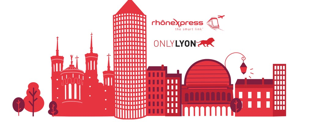 RHONEXPRESS i karta Lyon City