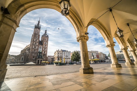 Grand tour de la ville à travers Cracovie avec la vieille ville et le quartier juif