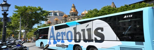 Aerobús transfer z lotniska do centrum Barcelony i z powrotem