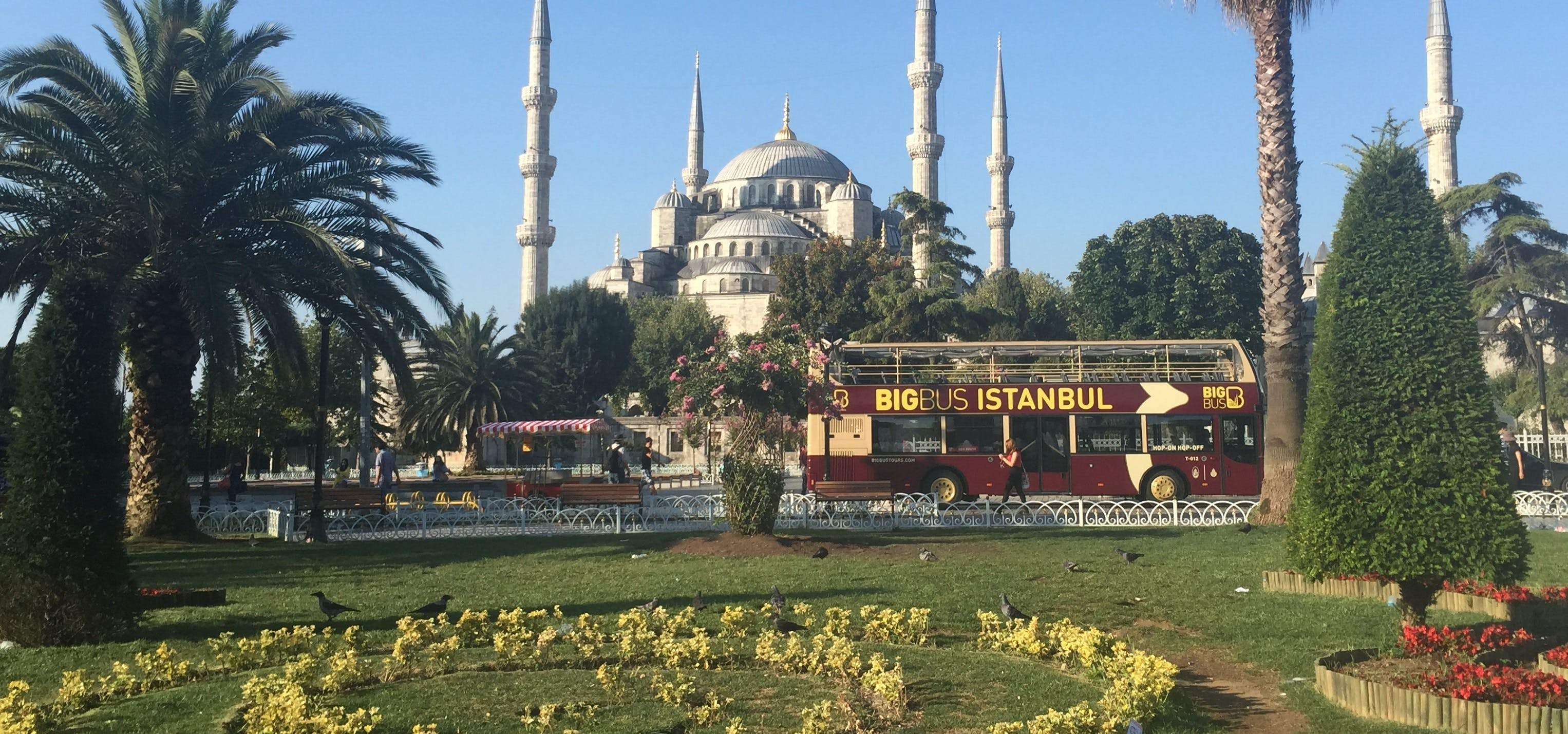 Big Bus hop-on hop-off  tour through Istanbul including free activities
