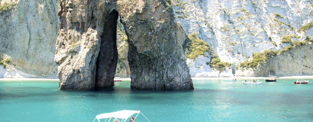 Natação e snorkeling barco dia de viagem para a ilha de Ponza de Roma