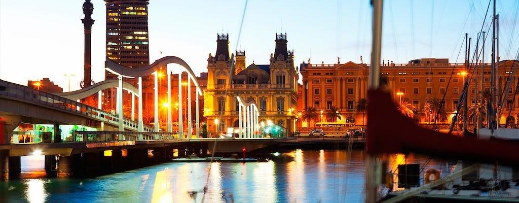 Волшебный фонтан в Барселоне и ночные огни тур с открытым верхом роскошный микроавтобус