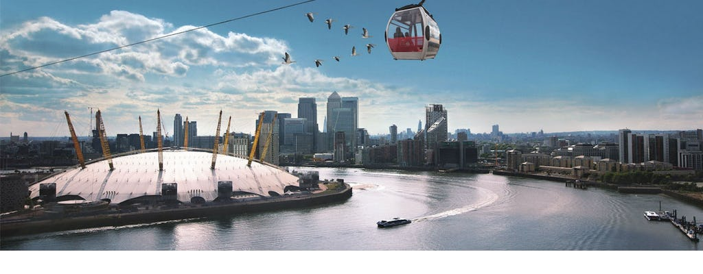 Entradas combinadas para el teleférico Emirates Airline y los autobuses acuáticos Thames Clippers