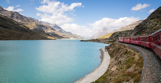 Bernina express and St. Moritz full-day trip from Milan