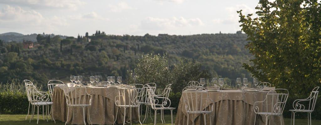 Florencia: degustación de vino y cena en una villa auténtica