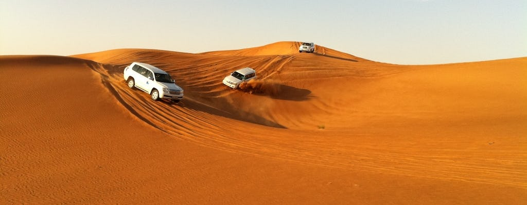Dubai desert camp experience and dhow cruise