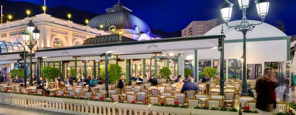 Passeio noturno e jantar gourmet em Monte Carlo