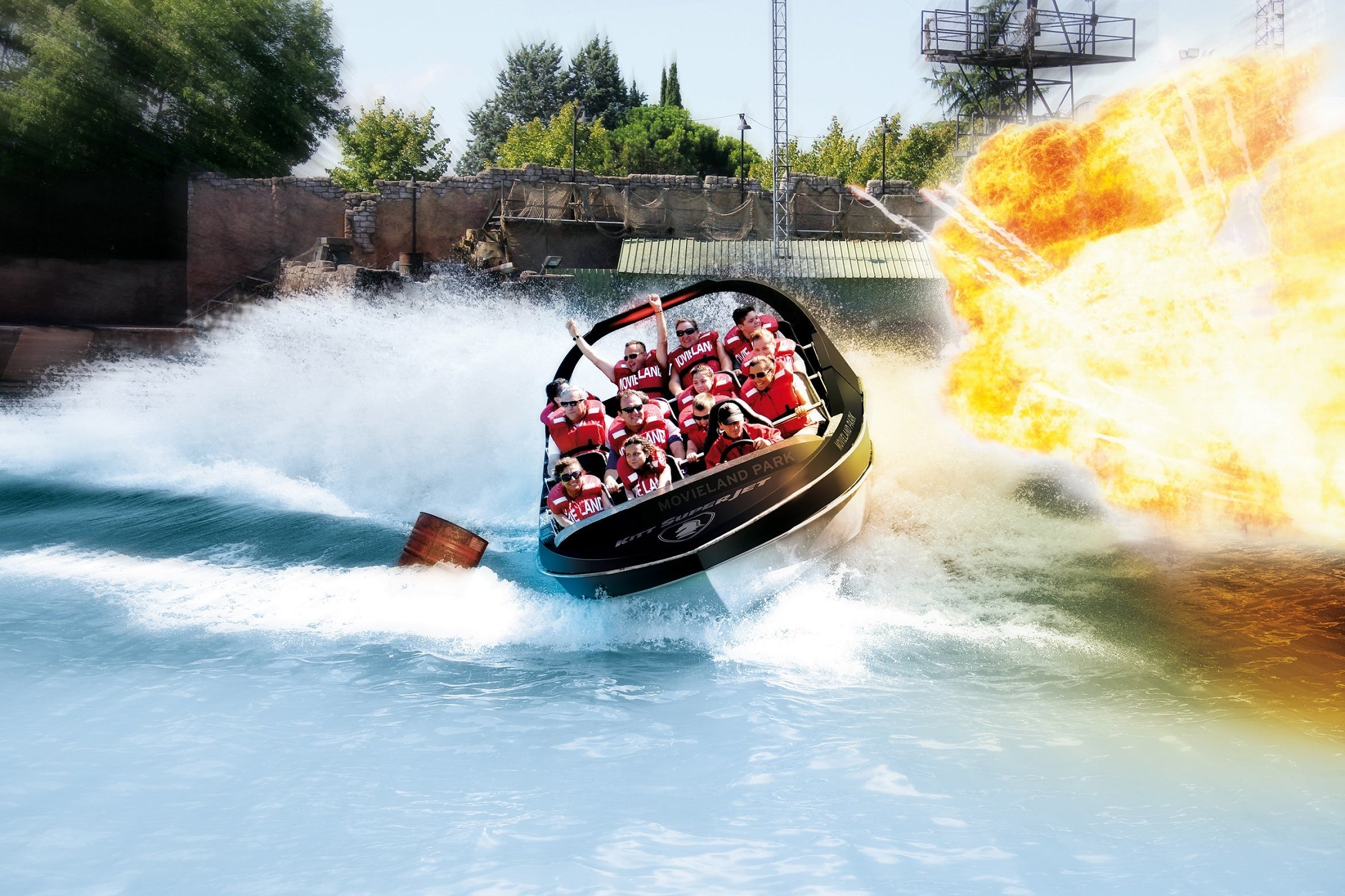 Open tickets for Caneva World and Movieland Park for 1, 2 or 7 days
