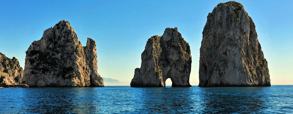 Private boat trip from Salerno to Capri