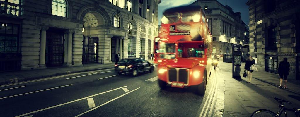 Vintage London nawiedzony autobus i piesza wycieczka